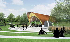 Festival Park Amphitheatre at the Riverbank Discovery Centre, Brandon, Manitoba